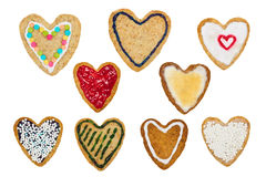 Печенье на день валентинки Стоковое Фото