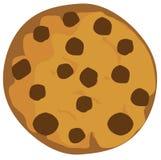 Печенье обломока шоколада вектора изолированное на белой предпосылке бесплатная иллюстрация