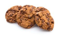 Печенье обломока шоколада на белой предпосылке Стоковое фото RF