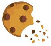 Печенье обломока шоколада вектора иллюстрация штока