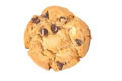 Печенье обломока шоколада изолированное на белизне Стоковые Изображения RF