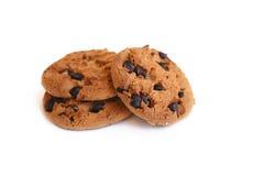 Печенье обломока шоколада на белой предпосылке Стоковое Изображение RF