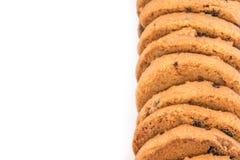 Печенье обломоков шоколада s изолированное на белой предпосылке Стоковое Фото