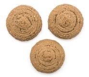 Печенье овса какао изолированное на белизне Стоковое Фото