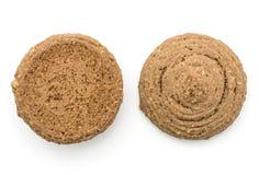 Печенье овса какао изолированное на белизне Стоковая Фотография