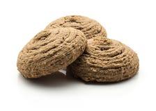 Печенье овса какао изолированное на белизне Стоковое Изображение RF