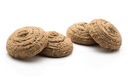 Печенье овса какао изолированное на белизне Стоковые Фотографии RF