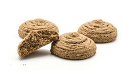 Печенье овса какао изолированное на белизне Стоковые Изображения RF