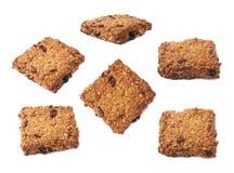 Печенье овсяной каши при изолированные изюминки Стоковые Изображения RF