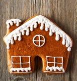 Печенье дома пряника рождества домодельное Стоковая Фотография RF