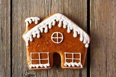 Печенье дома пряника рождества домодельное Стоковое Фото