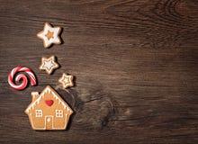 Печенье дома пряника Стоковое Фото