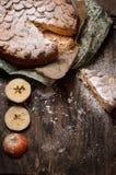 Печенье пирога с яблоками и ванильным пудингом Стоковое Фото