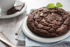 Печенье пирожного шоколада Стоковая Фотография