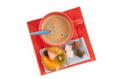печенье плодоовощ кофе стоковое изображение