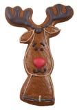 Печенье пряника в форме оленя Стоковые Фото