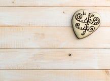 Печенье пряника в форме сердца Стоковая Фотография RF