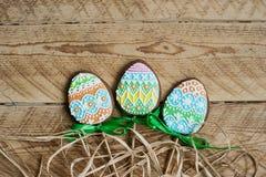 Печенье пряника в форме яичек цвета Стоковое Изображение RF