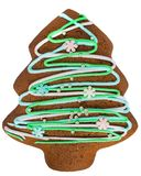 Печенье пряника рождества изолированное на белизне стоковые фото