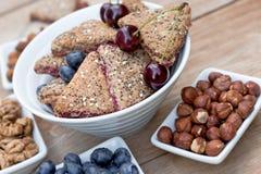 Печенье плодоовощ, печенье домодельное - печенья wholemeal Стоковые Фото