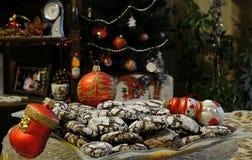 печенье рождества в ночи рождества стоковые фото