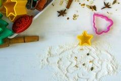 Печенье рождества выпечки Стоковое Изображение RF