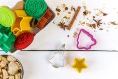 Печенье рождества выпечки Стоковые Изображения