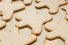 Печенье рождества в форме человека Стоковое фото RF