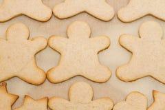 Печенье рождества в форме человека Стоковая Фотография RF