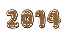 Печенье 2014 рождества года пряника Стоковые Фотографии RF