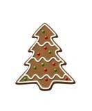 Печенье рождества дерева пряника Стоковое фото RF
