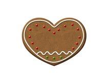 Печенье рождества сердца пряника Стоковое Фото