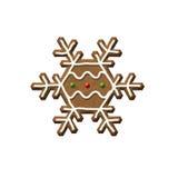 Печенье рождества снежинки пряника Стоковые Фотографии RF