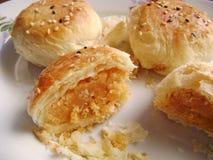 Печенье свертывает с завалкой яичного желтка Стоковые Изображения RF