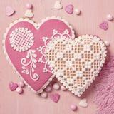 Печенье сердца пряника стоковые фотографии rf