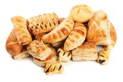 Печенье слойки изолированное на белизне Стоковая Фотография