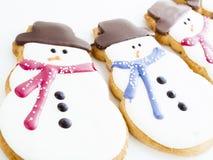 Печенье снеговика Стоковое Изображение