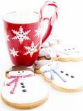 Печенье снеговика Стоковое Изображение RF