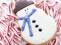 Печенье снеговика Стоковые Фотографии RF