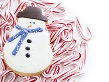 Печенье снеговика Стоковые Фото