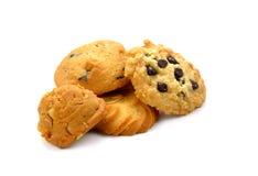 Печенье-сладостные печенья на белой предпосылке Стоковое Изображение RF