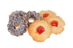 Печенье с обломоками шоколада и кокоса Стоковые Изображения