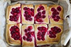 Печенье слойки с клюквами Стоковое Изображение RF