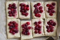 Печенье слойки с клюквами Стоковая Фотография