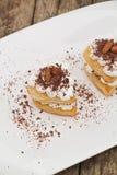 Печенье слойки с шоколадом Стоковые Фото