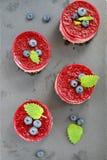 Печенье с mascarpone и вишней стоковые изображения