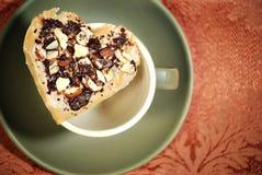 печенье шоколада миндалины Стоковое Фото