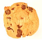 печенье шоколада обломока изолировало Стоковые Изображения