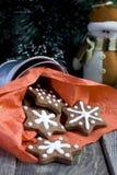 Печенье шоколада рождества формы звезды Стоковое фото RF