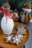 Печенье шоколада рождества формы звезды Стоковое Изображение RF